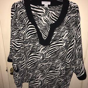 Zebra Printed Tunic SZ 3x